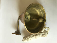 SOLID BRASS 3 INCH DOOR/WALL/SHIP BELL WITH ROPE ( AMAT 4478 )