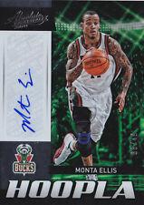 2012-13 Absolute Hoopla Autographs #16 Monta Ellis Auto #/49