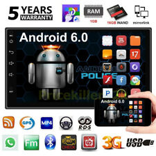 "2 DIN Quad Core Android 6.0 3G WIFI 7"" Double Car Radio Stereo MP5 Player GPS PM"