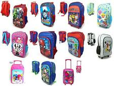 Kids Deluxe Character Trolley/Backpack School Bag Travel Holiday
