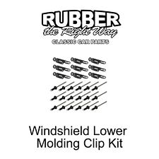 1980 - 1998 Ford Truck & Bronco Windshield Lower Molding Clip Kit