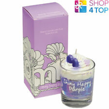 SHINY HAPPY PIPED CANDLE PASSIONFRUIT CITRUS SCENTED BOMB COSMETICS NEW