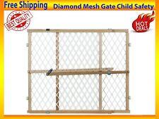 "New listing Diamond Mesh Gate Child Safety Pet Door Sturdy Construction Adjustable Width 42"""