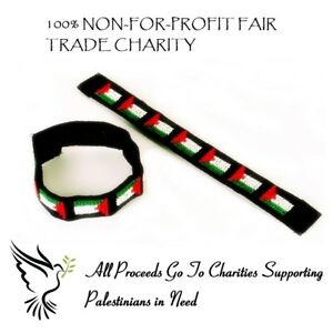 Fairtrade Charity Free Palestine Save Gaza UniSex Hand Wrist Band Bands Bracelet