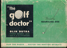 The Golf Doctor Olin Dutra Signed Autograph Vintage Flip Book 1948 PGA Champion