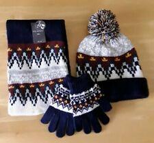 3 Piece Winter Hat, scarf gloves Set (bnwt) M/L rrp £8