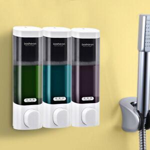 300ML Liquid Soap Dispenser Shower Gel Shampoo Bottle Wall Mounted Bathroom Home