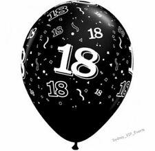 Party Supplies 18th Birthday 18 Around 28cm Pearl Onyx Latex Balloons Pk10 USA