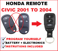 SUITABLE FOR HONDA CIVIC REMOTE CONTROL FOB KEY LESS ENTRY 2001 2002 2003 2004
