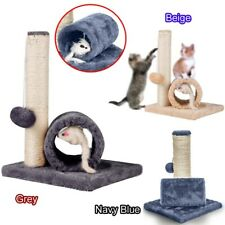 Cat Kitten Play Sisal Scratch Bed Toy Fun Post With Tunnel & Mouse Pet Activity