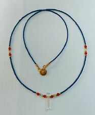 Afghan Natural lapis lazuli Coral & Crystal Pendant Tiny Beads Necklace Gemstone