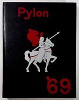 1969 LEUZINGER HIGH SCHOOL Lawndale California Original YEARBOOK Annual Pylon