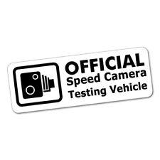 OFFICIAL SPEED CAMERA TESTING JDM Car Sticker Decal Car  #0746