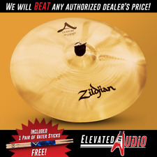 "Zildjian A Custom 20"" Medium Ride Cymbal + FREE Vater Hickory Drum Sticks!"