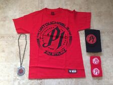 WWE AJ Styles Untouchable Red T-shirt Small