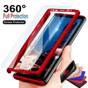 For Samsung Galaxy S9,S8,S7,S10 Plus 360° Full Body Hard Case + Screen Protector