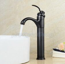 Black Oil Rubbed Brass Single Handle Bathroom Basin Faucet Sink Mixer Tap Pnf227