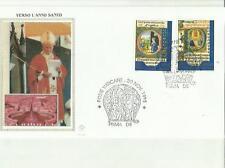 133956 BUSTA PRIMO GIORNO FDC CON SETA PAPA GIOVANNI PAOLO SECONDO 1995