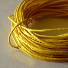 5 mètres de Fil Coton Ciré  Jaune d'Or   0,5 mm