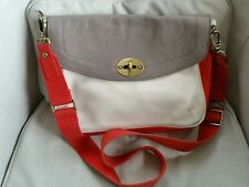 Boden Leather Satchel Messenger Shoulder Bag Medium