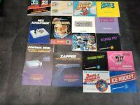 16 Original Nintendo NES Manuals Tecmo Bowl, Super Mario 1,2,3, Tetris, Kung Fu