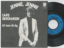 LARS BERGHAGEN Jennie Jennie Scandinavian 45PS 1975 Eurovision