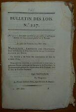 BL n°227 / Princesse Eliza /  Gouvernement général de la Toscane / Italie / 1809