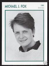 MICHAEL J. FOX Actor Movie Star FRENCH ATLAS PHOTO BIO CARD