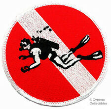 SCUBA DIVING EMBROIDERED IRON-ON DIVE PATCH skin diver down emblem bubbles NEW