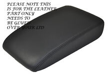 BLACK STITCH FITS VW GOLF MK5 MK6 ANTHRACITE DARK GREY LEATHER ARMREST COVER