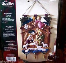 Bucilla MANGER NATIVITY Felt Wall Hanging Kit-Baby Jesus Animals Authentic 85331
