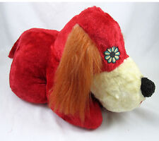 Red Plush Dog Stuffed Toy Made in USA Vintage 1960's Capitol Toy Company 15 Inch