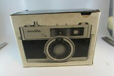 Minolta HI-MATIC 7S Camera Rokkor PF 45mm F/1.8 Comes w/ Case & BOX- Japan WORKS