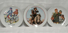 Set of 3 Norman Rockwell Plates- Collector Pieces