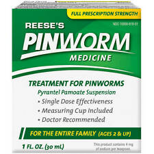 1 Bottle of Reeses Pinworm Medicine Full Prescription Strength Liquid - 1 Oz
