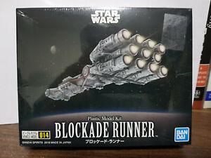 New & Sealed Bandai Star Wars 014 Rebel Blockade Runner Plastic Model Kit