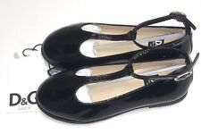 D&G New GIRLS KIDS BK LEATHER MARY JANES Sz: 26 Eur / 9 US RTL: $410 LDBZBU O81
