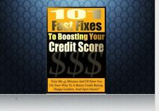 101 Fast Fix To Boost Your Credit Score Ebook | With Resell Rights Pdf