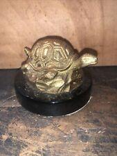 Vintage Brass Tortoise Turtle Paperweight