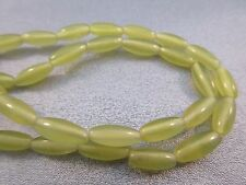 Olive Jade Oval Beads 35pcs