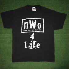Vintage 1998 Tultex WCW New World Order NWO 4 LIFE Black Graphic Tshirt - M / L