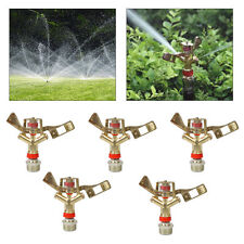 "5x Orbit Lawn Sprinkler System 3/4"" Zinc Alloy Impact Head with 15-25M Coverage"
