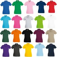 Fruit of the Loom Women's 100% cotton.* Premium Lady-Fit Piqué Polo Shirt Sports