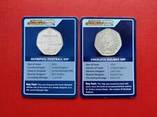 More details for change checker 50p trading cards (x2) olympics football+sherlock holmes_no coins