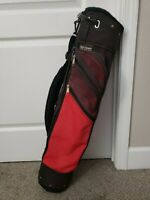 JONES SPORTS CO. GOLF JUNIOR BAG - Single Strap, 2-Way Red Black GB011