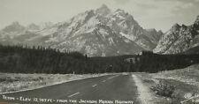 Grand Teton Postcard Jackson Moran Rppc Real Photo Sanborn Y 1412 Black White