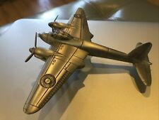 Danbury Mint Pewter Great Fighter Planes of Wwii DeHavilland Dh 98 Mosquito Nice