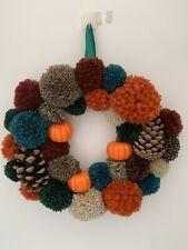 Autumn Indoor Pom Pom Wreath