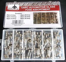 120pc Goliath Industrial Glass Fuse Assortment Fuses Car Truck Electrical