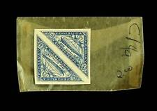 PARAGUAY 1932 GRAF ZEPPELIN TRIANGULAR IMPERF PAIR MNH STAMPS